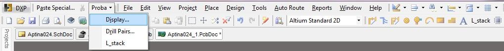 Creating new toolbar and drop down menu in Altium Designer